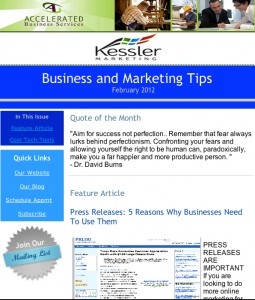 marketing enewsletter